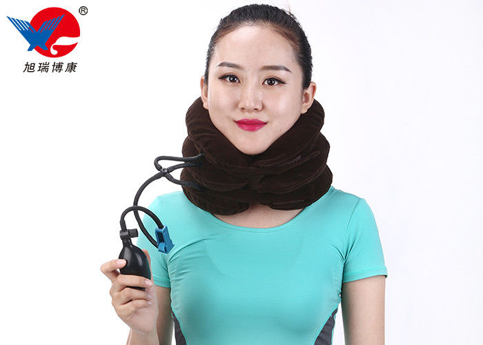 Instant Pain Relief Cervical Neck Traction Device Air Inflation Conform To Body Mechanics